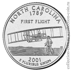 2001-25-czentov-severnaya-karolina-quarter-dollar-north-carolina