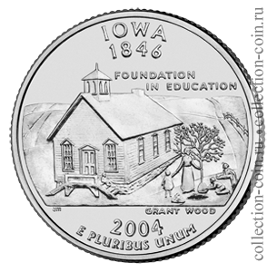 2004-25-czentov-ajova-quarter-dollar-iowa