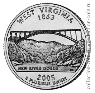 2005-25-czentov-zapadnaya-virdzhiniya-quarter-dollar-west-virginia