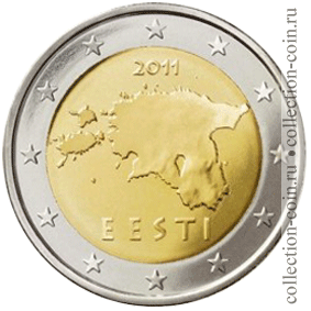 Монеты евро эстонии регулярного