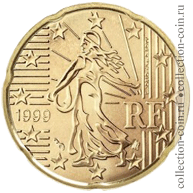Монеты евро франции регулярного
