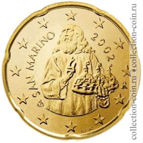 Монеты евро сан марино регулярного