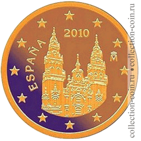Монеты евро испании образца 2010 года