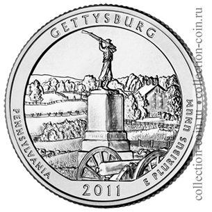 2011-25-czentov-naczionalnyj-voennyj-park-gettisberg-quarter-dollar-gettysburg-national-military-park