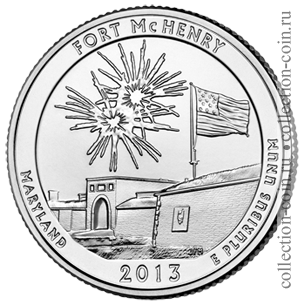 2013-25-czentov-fort-mak-genri-quarter-dollar-fort-mchenry-national-monument-and-historic-shrine