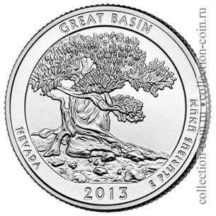2013-25-czentov-naczionalnyj-park-grejt-bejsin-quarter-dollar-great-basin-national-park